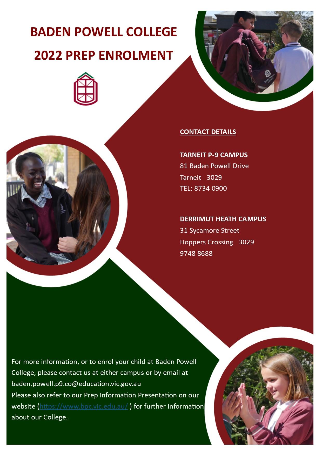 Enrolment Contact details